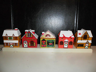 YULETIDE CONCEPTS 1987 HONG KONG VINTAGE CHRISTMAS VILLAGE STRIP LIGHT SET