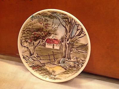 """Johnson Brothers Friendly Village Small Plate/Bowl, 4 1/4"""" Round, England"""