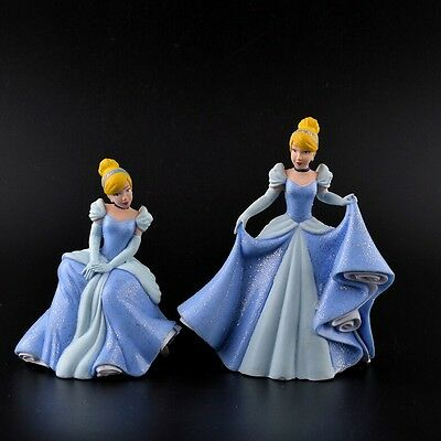 "4"" 2PCS  Cinderella 2015 Movie PVC Figure Toy Lovely Girls Doll Kids Fans Gift"