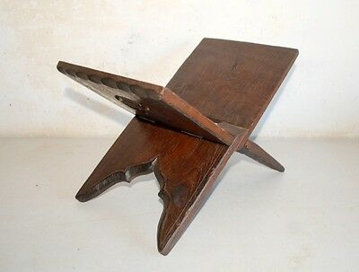 1860's Antique Old  Wooden Hand Carved Floral Islamic Quran Holy Book Stand