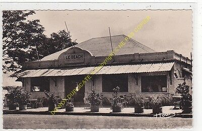 RPPC CPSM AFRIQUE BRAZZAVILLE Cafe le Beach Edit AU MESSAGER