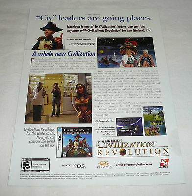 2008 video game ad page ~ Sid Meier's CIVILIZATION REVOLUTION ~ Going Places
