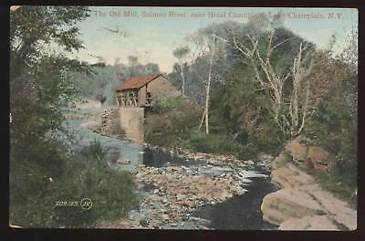 Postcard CHAMPLAIN NY Old Mill View 1907 ?