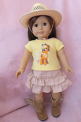 Doll Clothes MLP Skirt Set fits 18 Inch Doll American Seller lsful