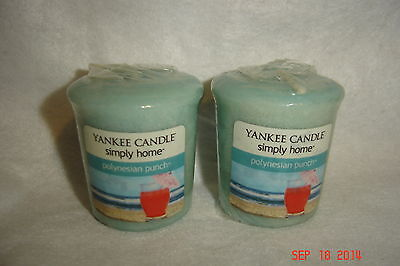 YANKEE CANDLE***Simply Home***POLYNESIAN PUNCH~~Set of 2~~BRAND NEW~~SEALED
