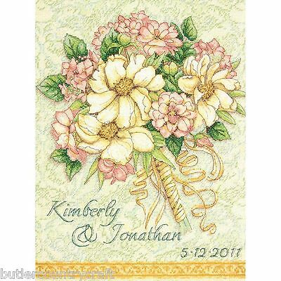 Wedding Record Bouquet Flowers 70-35275 Dimension Gold Counted Cross Stitch Kit