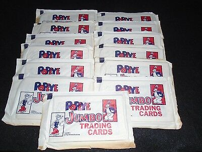 RARE FIND! LOT OF 13 UNOPENED PACKS 1962 DYNAMIC TOY POPEYE JUMBO TRADING CARDS