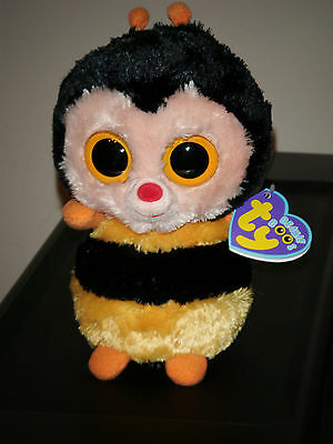 """Ty Beanie Boos ~ STING the 6"""" Bumblebee (Purple Tag) ~ MINT with MINT TAGS ~RARE"""