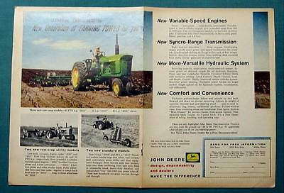 Original 1961 John Deere Tractor 2 Page Ad Features Model 4010 GET EARNING POWER