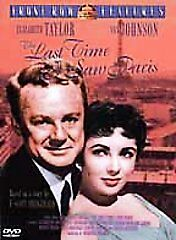 The Last Time I Saw Paris (DVD, 2001, Front Row Features) New Elizabeth Taylor