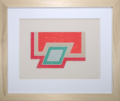 1974 FRANK STELLA CONWAY ORIGINAL SIGNED NUMBERED LITHOGRAPH & SERIGRAPH FRAMED