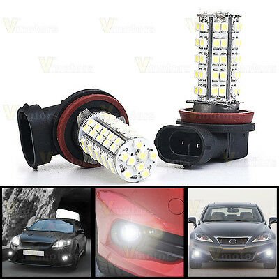 2x H11 H8 68 SMD LED White Car Fog Driving Running Light Lamp Bulb For Chevrolet