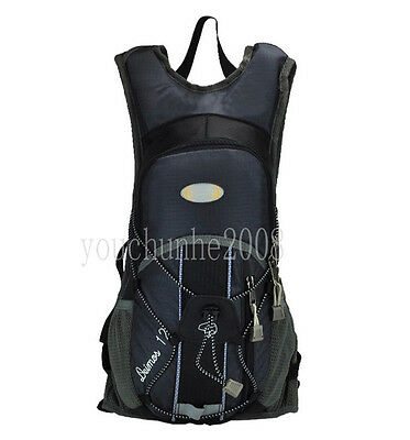 CYCLING BICYCLE HYDRATION WATER PACK BAG BACKPACK BIKE SPORTS GREY-35293