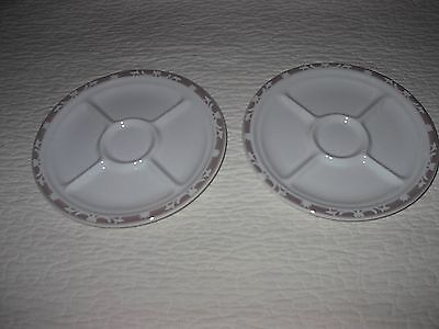 Set Of Two Divided Vintage Syracuse Plates