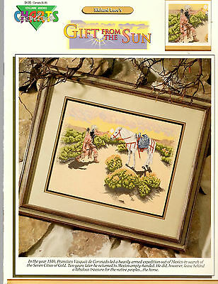 GIFT FROM THE SUN NATIVE AMERICAN INDIAN COUNTED CROSS STITCH PATTERN LEAFLET