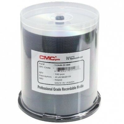 100 CMC Pro Taiyo Yuden 8X DVD-R 4.7GB Silver Thermal Lacquer
