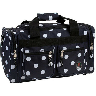 "Rockland Bel-Air 18"" Carry-On Tote Duffel Bag - Black Dot Pattern"