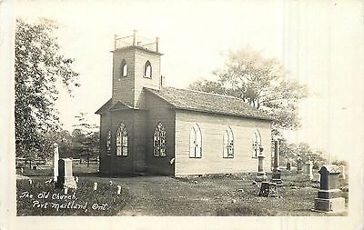 1925 Real Photo Postcard The Old Church PORT MAITLAND Ontario