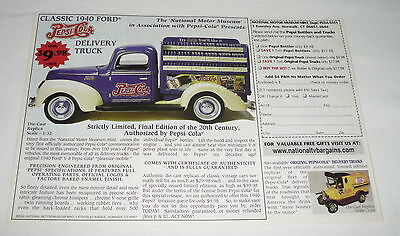 2000 newspaper insert ad ~ PEPSI Delivery Truck