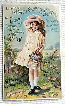 Hoyt's German Cologne Victorian Trade Card For Sale By E. Laffler Sigourney Iowa