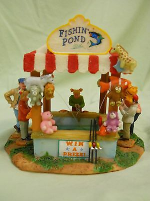 Lemax Carnival Circus Fishing Pond Vendor in mint condition