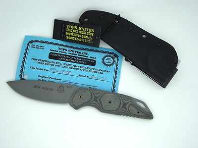 Tops Knives Sea Wolfe SW808 154CM Stainless Kydex Sheath Handcrafted in the USA