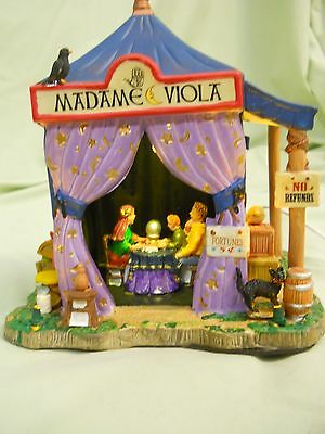 Lemax Carnival Circus Madame Viola Lighted Vendor in mint condition