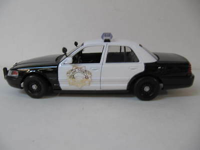 Lane County Sheriff 2007 Ford Crown Victoria Police Car Die Cast  1/24 Motor Max