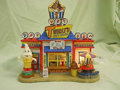 Lemax Carnival Circus Electrical Twirly's Soft Serve Vendor in mint condition