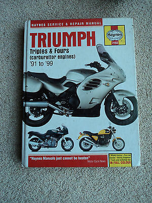 Triumph Triples and Fours Haynes manual FREE POSTAGE