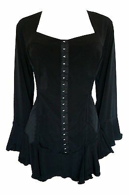 CORSETTA Renaissance Corset Top Dare to Wear CLASSIC BLACK Jr Plus Size 5X  28