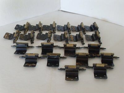 11 Pairs (22 hinges) 1967 Amerock off set hinges - Ant brass finish/self closing