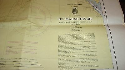 US CORPS OF ARMY ENGINEERS - SAINT MARY'S RIVER SURVEY - MICHIGAN - 1967