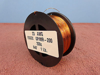 23 AWG...Enameled Magnet Wire.....200c..1 lb..23 ga..ESSEX...FREE  SHIPPING