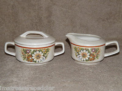 Temper-ware by Lenox Creamer & Sugar Set  - Magic Garden Pattern