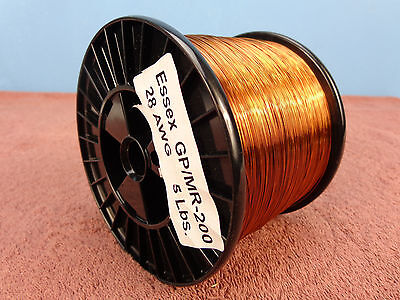 28 AWG...Enameled Magnet Wire.....200c.... 5 lb....28ga..ESSEX..FREE  SHIPPING