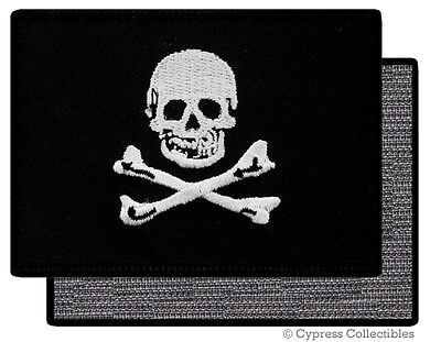 PIRATE FLAG VELCRO PATCH JOLLY ROGER Skull BIKER embroidered EDWARD ENGLAND new