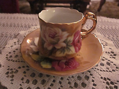 Vintage Lefton Floral Small Tea Cup And Saucer