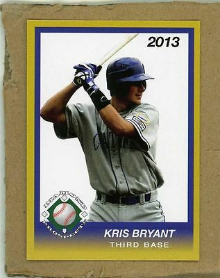 (50) lot of 2013 Diamond Prospects KRIS BRYANT Chicago Cubs rookie #1 Pick
