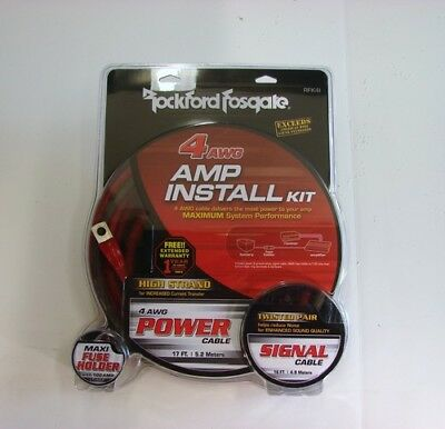 Rockford Fosgate RFK4I 4 AWG Gauge Installation Amplifier/Amp Kit