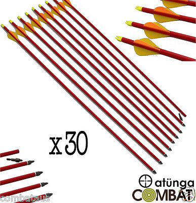 """30x 30"""" FIBREGLASS ARROWS 4 COMPOUND OR RECURVE BOW TARGET ARCHERY HUNTING NEW"""
