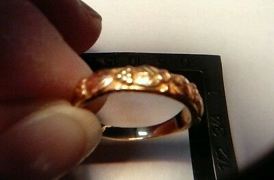 14K BLACK HILLS TRI-GOLD RING ROSE GREEN YELLOW BAND GREAT GIFT IDEA! NOT SCRAP!