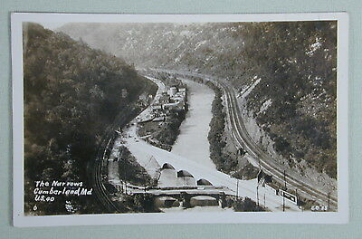 The Narrows Cumberland Maryland US 40 Vintage Real Photo Postcard