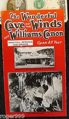 VINTAGE 1930-40s CAVE OF THE WINDS BROCHURE WILLIAMS CN MANITOU SPRINGS COLORADO