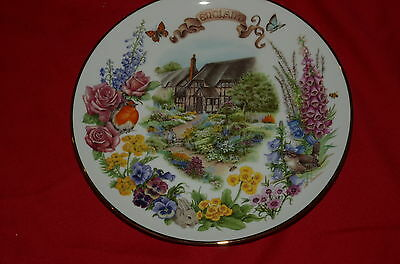 English Country Garden by Dot Barlowe Plate 1st Issue England 1987 by Reco Mint