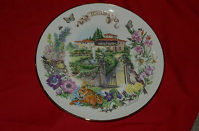 Italian Garden by Dot Barlowe Plate 5th Issue Italy 1991 by Reco Mint
