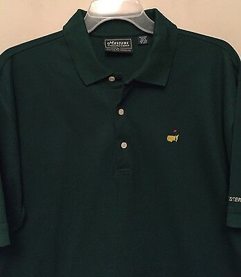 Master's Collection MASTER'S Polo-Style Golf Shirt~ LG~ Master's Green~ MINT!