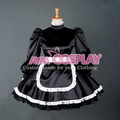 Special offer- lockable Satin Sissy Maid  dress Tailor-made [G780]