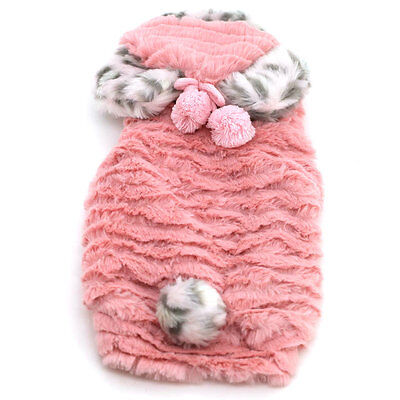 Dobaz Flannel Winter Dog Coat Pet Clothes,Size L, Female, Dark Pink/ DA13052