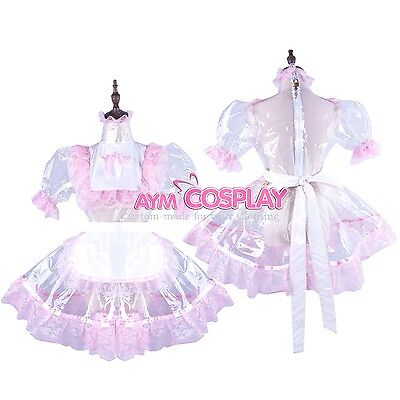 Special offer-clear PVC lockable Sissy Maid  dress Tailor-made [G1502]